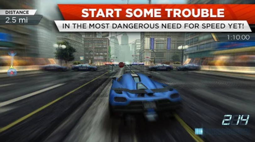 لعبة need for speed most wanted للاندرويد