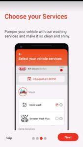 تطبيق غسيل سيارات الرياض