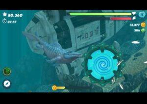 لعبة القرش الجائع hungry shark world